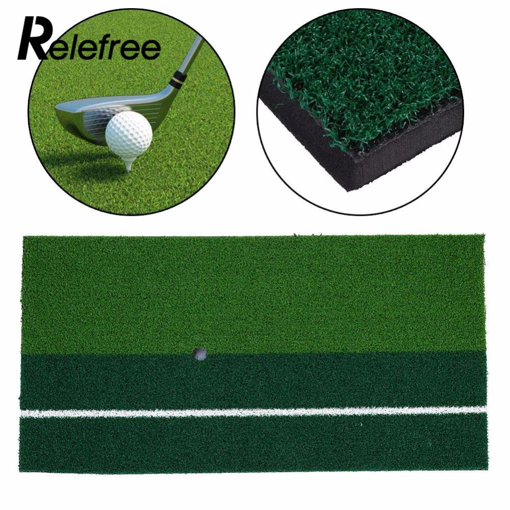 Relefree 60 x 30 cm 12x 24 Residential Training Hitting Pad Backyard Golf Mat Practice Rubber Tee Holder Grass Outdoor Indoor