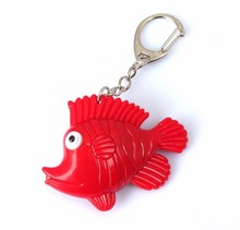 New fish LED luminous key chain mobile phone bag pendant LED flashlight small toys gift for childrenwholesale