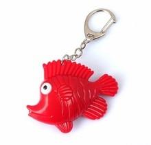 New fish LED luminous key chain mobile phone bag pendant LED flashlight small toys gift for childrenwholesale