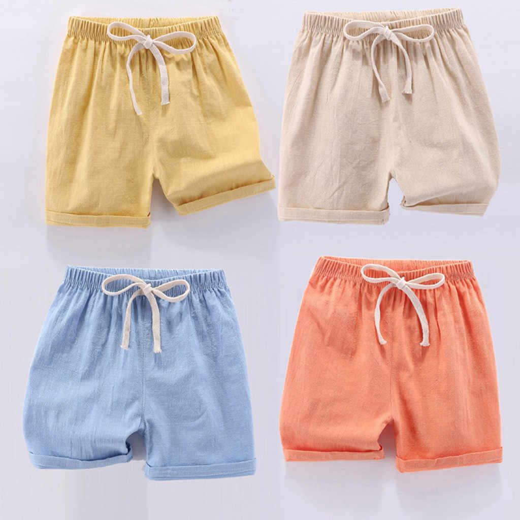 Kids Baby Jongens Meisjes Shorts Jongens Ondergoed Casual Linnen Peuter Losse Solid Shorts Meisjes Kid Kleding Korte Mode Jongens Shorts