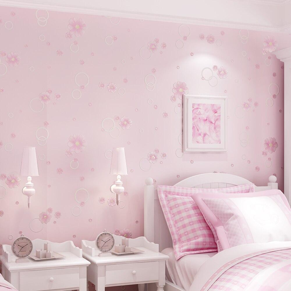 Купить с кэшбэком PAYSOTA New Garden Style 3D Flowers Wallpaper Bedroom Living Room TV Sofa Background Wall Paper Roll