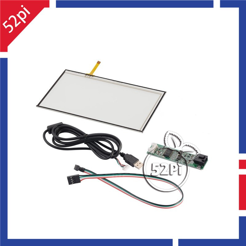 7 Inch TFT LCD Resistive Touch Digitizer Panel Glass Sensor With USB Cable Kit 165*100 For AT070TN90