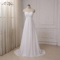 Vestidos De Novia 2016 New Arrival Dress Elegant Applique Wedding Dresses Chiffon Beach Bridal Gowns