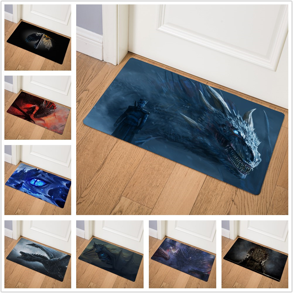 Game of Thrones Dragon Prayer Pad Doormat Insole Kitchen Carpet Indoor Outdoor Entrance Welcome Bathroom Non-slip Floor Mat 75cmGame of Thrones Dragon Prayer Pad Doormat Insole Kitchen Carpet Indoor Outdoor Entrance Welcome Bathroom Non-slip Floor Mat 75cm