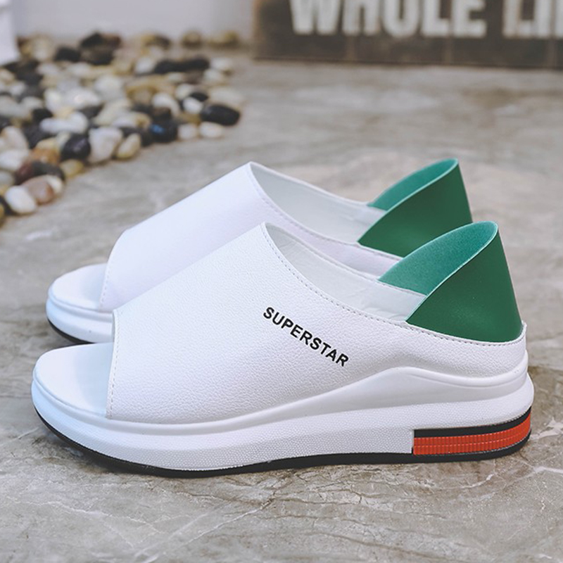 2019 Neue Mode Frauen Sandalen Frühling Sommer Plattform Sandale Schuhe Frau Peep Toe Leder Strand Casual Alias Mujer Plus Größe Lange Lebensdauer