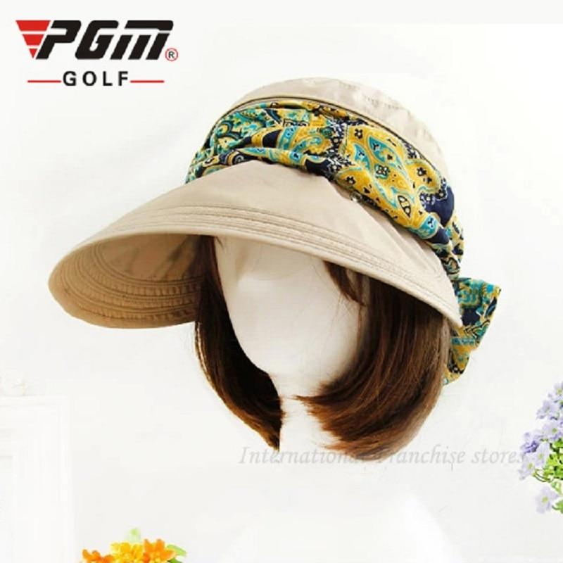 PGM 2018 nuevo verano femenino viseras sombrero de sol al aire libre  casquillo de Golf ultravioleta plegable sombrero de béisbol sombreros para  las mujeres ... 427aa7a5ff3
