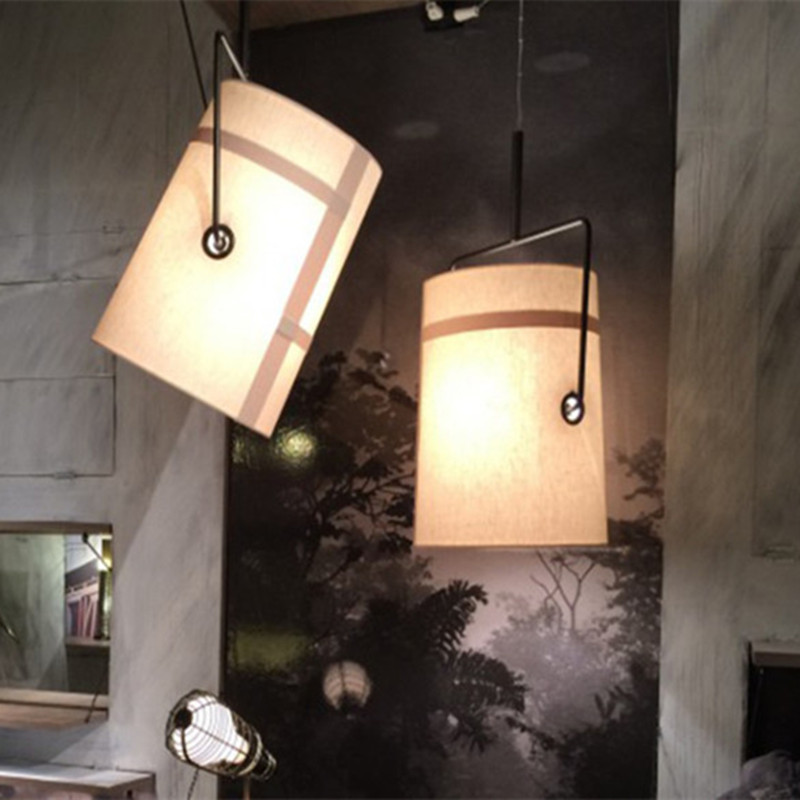 Postmodern Retro Loft Pendant Light Creative Fabric Shade Designer Dining  Living Villa Hanging Light Free Shipping Postmodern Retro Loft Pendant Light Creative Fabric Shade Designer Dining  Living Villa Hanging Light Free Shipping