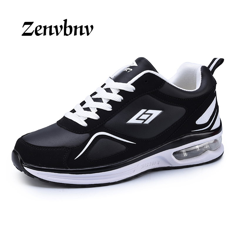 ZENVBNV 2018 New Spring Men sports shoes female thick women running shoes Outdoor comfort Sneakers Unisex Leather basket shoes
