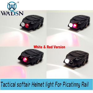 Image 4 - WADSN Princeton Tactical softair Helmet light For Picatinny Rail With Remote Switch Light Tail White Red IR Lights WNE05016