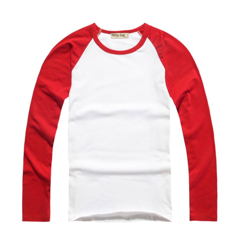 Wholesale long sleeve raglan sleeve round neck horn sleeve Mens long sleeve white t shirt