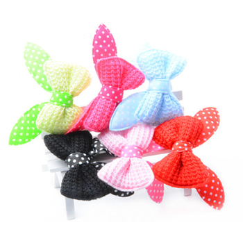 Dog Hair Clip Pet Cat Bow Rabbit Ear Hairpin Grooming Supplies For Small Dog Teddy Chihuahua image