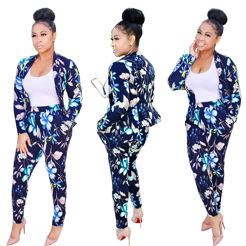 women pants suit set -4