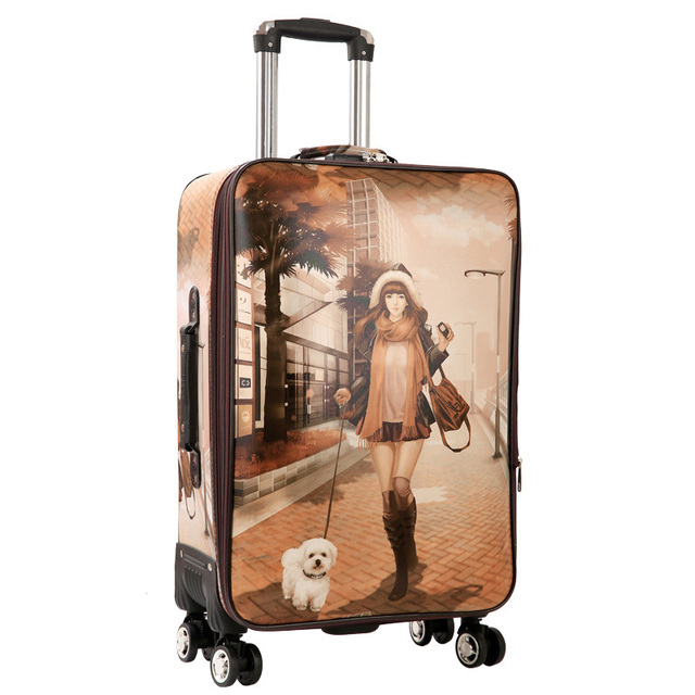 b22f74904975 BeaSumore Cute girl Rolling Luggage Spinner Suitcase Wheels Student Carry  On Travel Bag Women Password Cabin Trolley School Bag