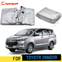 Cawanerl Car Cover Sun Shade Anti UV Rain Snow Scratch Protection Outdoor MPV Cover Windproof For Toyota Innova 2004 2019