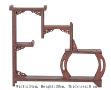 Exquisite Chinesische Decoratable Klassische Handgemachte Wenge Holz Ständer Regal No. 7