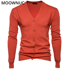 Sweater Cardigan Male Solid V-Neck Smart Casual Fashion New Autumn Slim Keep Warm Homme Men Modish MOOWNUC MWC