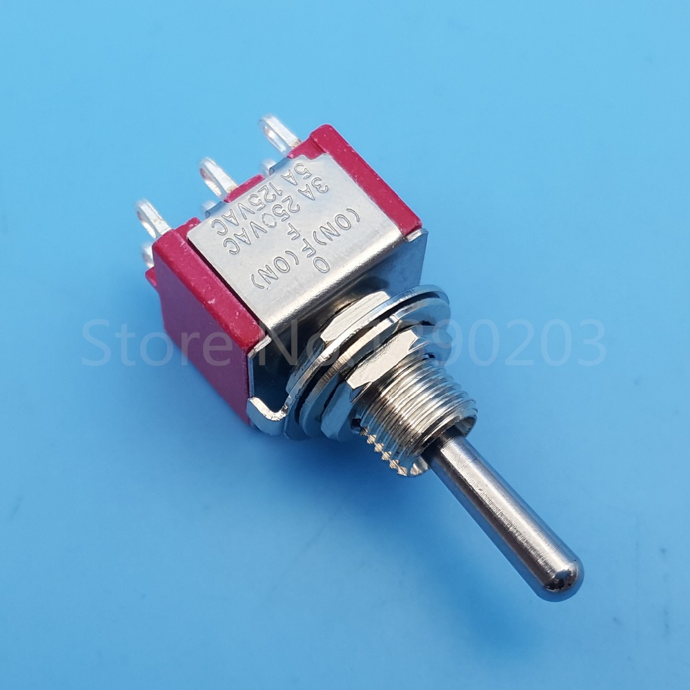 5Pcs SALECOM T8012A 6Pin 3Position Momentary (ON) OFF (ON) Mini ...