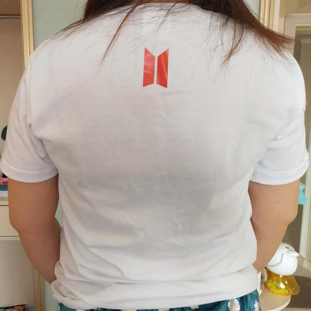 US $8 9 50% OFF BTS Love Yourself World Tour Bangtan Boys Summer Pockets T  shirt female Harajuku girl t shirt white k pop bts loose Tees-in T-Shirts