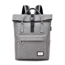 Neutral leisure fashion college backpack USB laptop bag