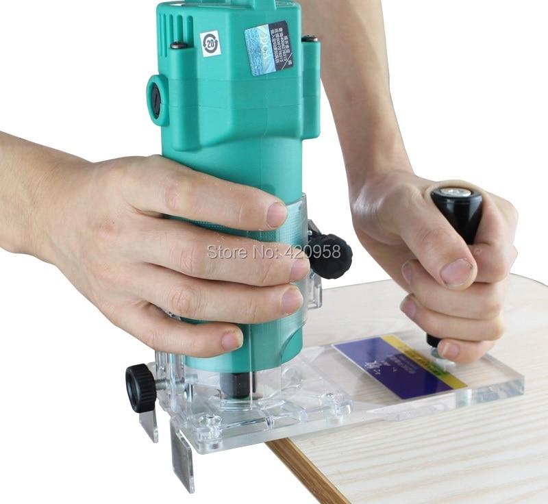 350W electric wood edge trimmer portable edge bander trimmer PVC edge  trimmer with 1pcs trimmer blade
