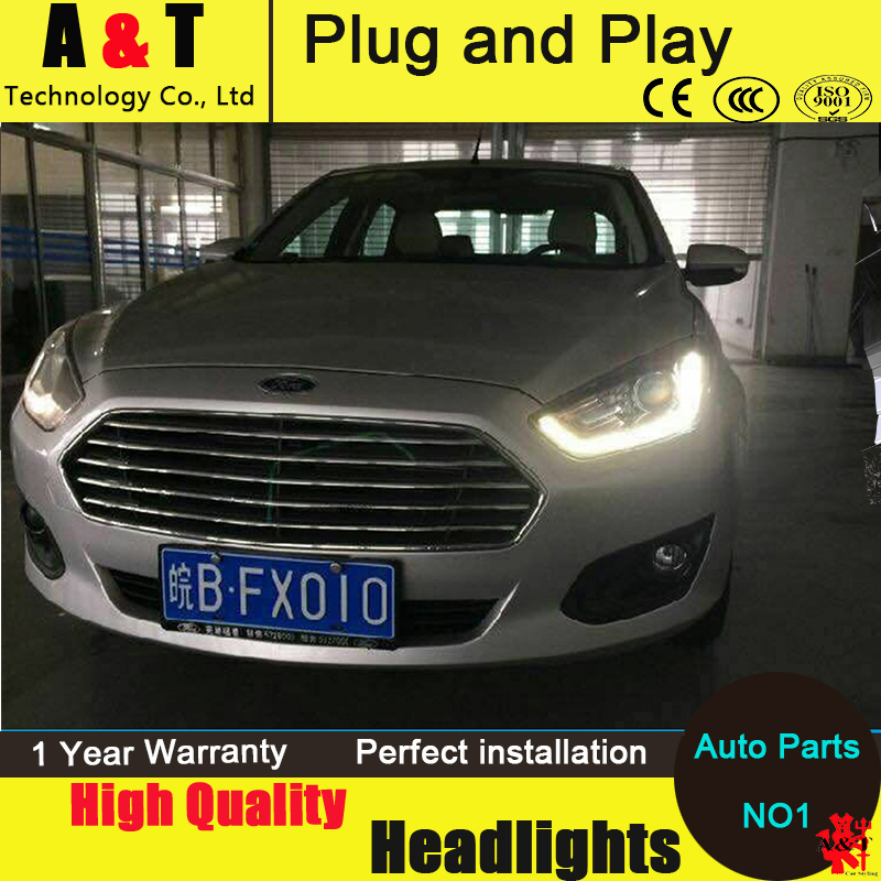Car Styling LED Head Lamp for Ford Fusion headlights 2015 ESCORT led headlight drl turn signal drl H7 hid Bi-Xenon Lens low beam купить