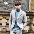 Ropa de la marca de los hombres blazer diseños casuales blazers slim fit gris rosa chaqueta de ocio hombre novio de la boda trajes de la etapa para cantantes