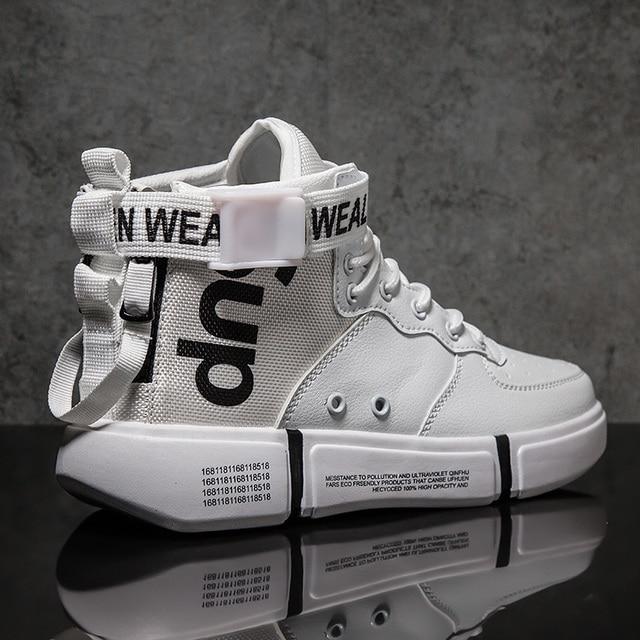 Zanvllchy Новинка 2019 высокие кроссовки зима осень мужская повседневная обувь дышащие белые туфли черные chaussure homme zapatos hombre