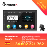 Podofo VEUR 2 din Android Car Radio Autoradio 7 2DIN Multimedia player GPS Navigation Bluetooth Mirror Link Audio Radio