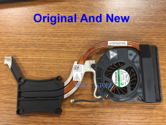 Original New Laptop CPU Cooler Fan & Heatsink For Dell Latitude E6420 Integrated Graphics SUNON MF60120V1-C070-G99 DP/N 0FVJ0D