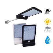 Aluminum pole 48/36 LED Solar light Garden Security Solar lamp Motion Sensor Energy Saving Waterproof Outdoor spot lights flood цена