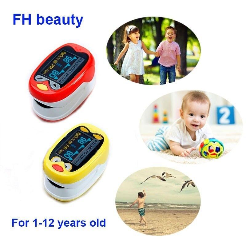 Criança Oxímetro de pulso Dedo 1-12 Anos de Idade Infantil Do Bebê Dos Miúdos Pediátrica oxímetro De pulso Dedo Oxímetro de pulso spo2 oxímetro de pulso