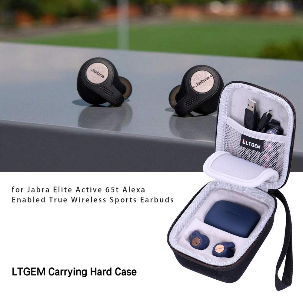 Ltgem Eva Waterproof Shockproof Carrying Hard Case For Jabra Elite Active 65t Alexa Enabled True Wireless Sports Earbuds Travel Bags Aliexpress