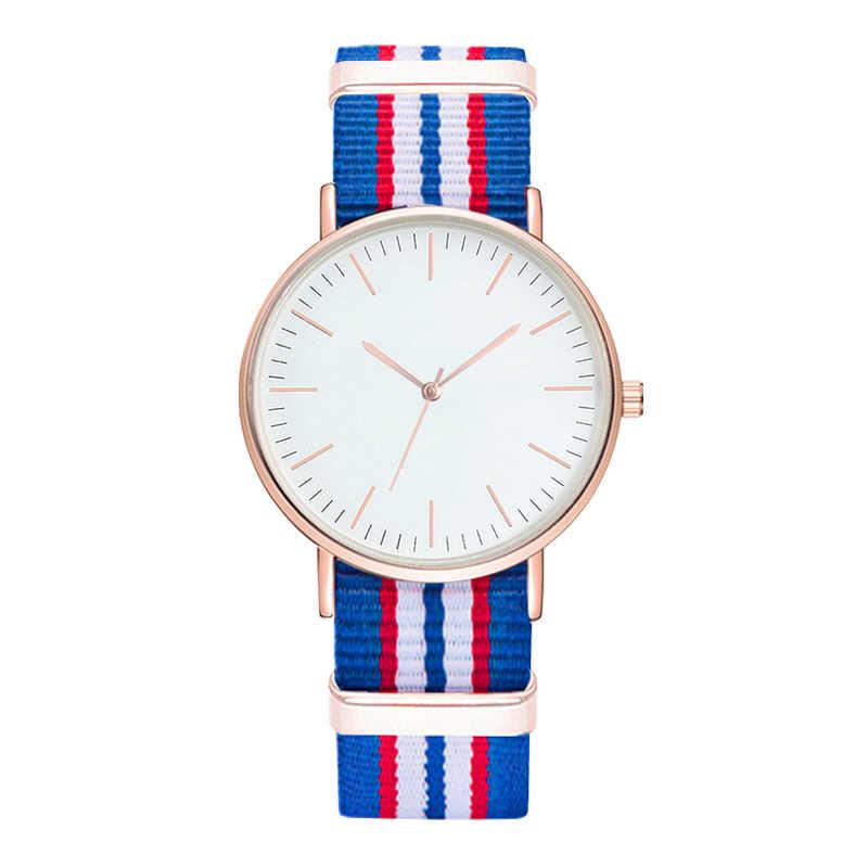 Reloj de pulsera para hombre con esfera grande a rayas de Color clásico con  correa de a4fb6264a3f3