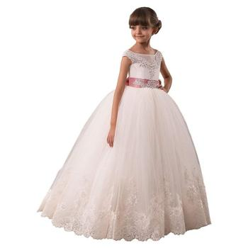 Flower Girls Dresses Long Vintage Lace First Communion Pageant Ball Gowns Formal Occasion New  toddler pageant dresses