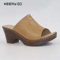 High Quality First Layer Of Cowhide Flower High Heeled Sandals Leather Us5 9