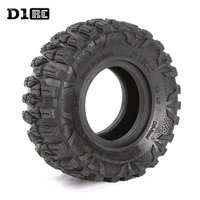 D1RC Super Grip Two stage Sponge RC CRAWLER CAR 2.2 Inch RC Thin Wheel Tires Car Parts FOR 1:8 SCALE Axial 90048 90045 90031