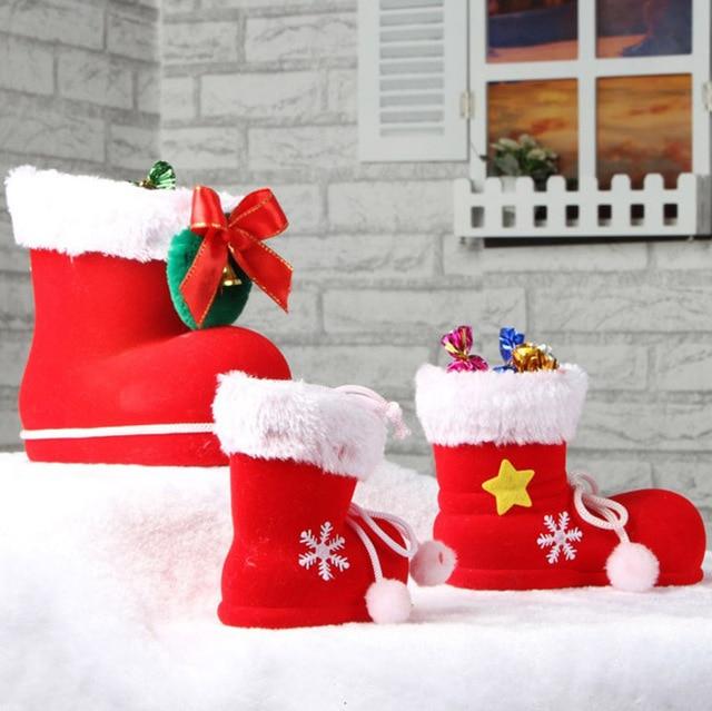 3 Стиль Украшения Новогодней елки украшения красный стекаются рождество загрузки Конфеты мешок Рождественские декор партия Рождество праздничные атрибуты