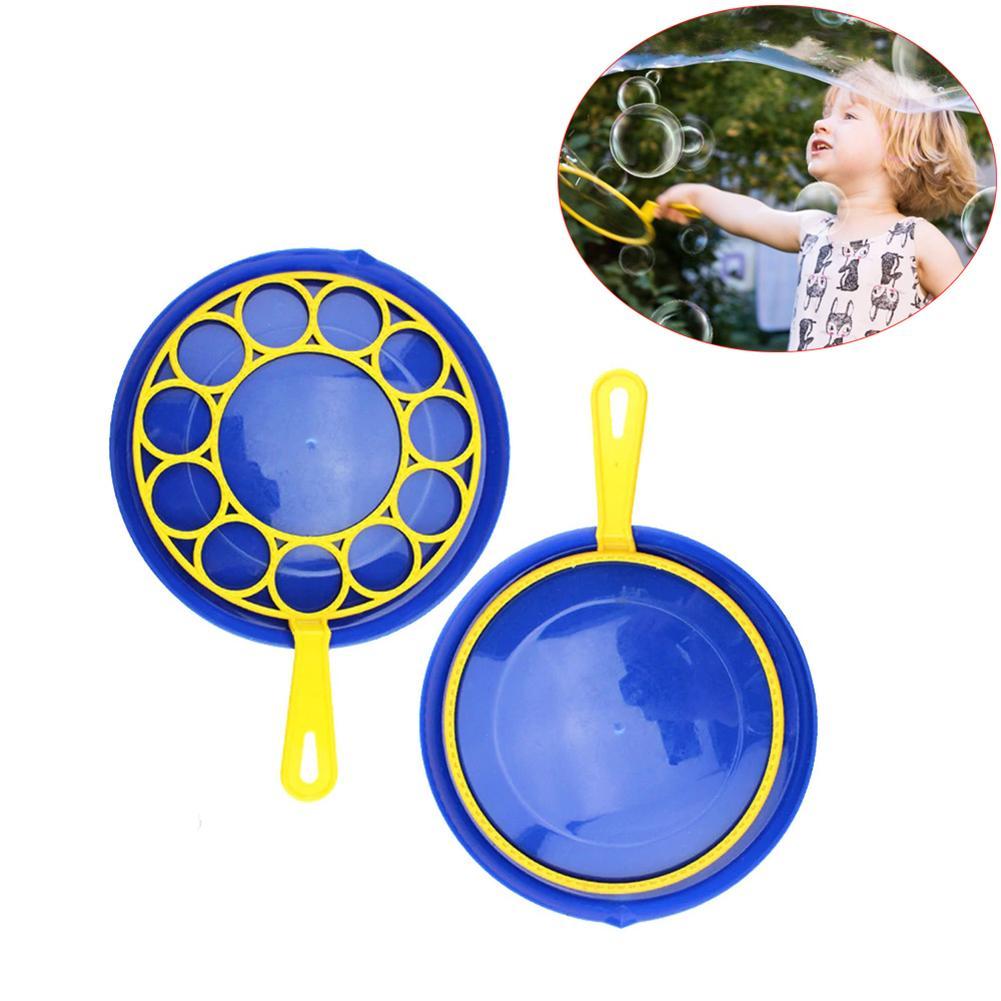 3PCS Giant Bubble Stick Bubble Disc 1 Disk 2 Stick Blowing Bubble Tool Children Outdoor Toys Color Random