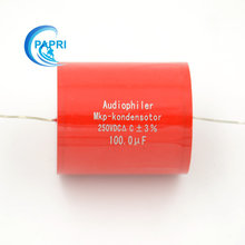 10Pcs 100UF 250VDC audio grade HIFI DIY Audiophiler Axial MKP capacitor for Amps