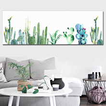 Minimalist Wall Art Canvas Painting Watercolor Cactus Poster Nordic Fish Pictures Colorful Feather Paintings for Office