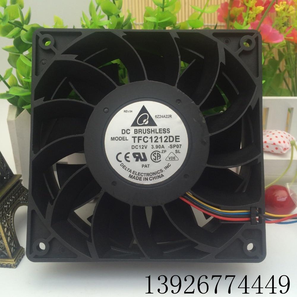 TFC1212DE 12CM 12038 12V 3.9A winds of booster fan violence delta 12038 car booster fan violence server pfr1212dhe 12v 5 2a 12cm fan