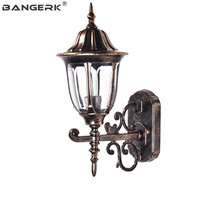 European Vintage Garden Wall light Outdoor Waterproof LED Lamps Wall Sconce Lighting Fixtures Porch Balcony Aisle Luminaire