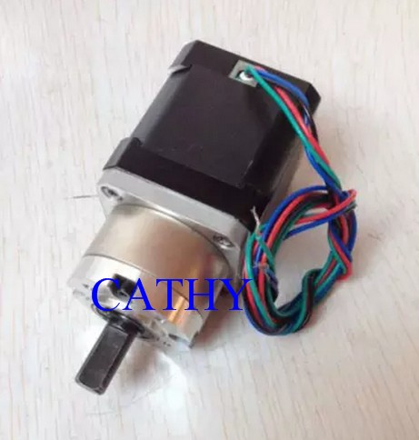 New Best Gear ratio 5:1 Planetary Gearbox stepper motor Nema 17 1.7A Geared Stepper Motor 3d printer stepper motor new best gear ratio 1 3 71 planetary gearbox stepper motor nema 17 1 7a geared stepper motor 3d printer stepper motor