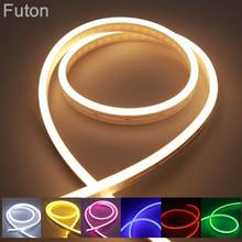DC12V LED Neon Light Waterproof Flexible SMD2835 Strip For Billboard Advertising And Home Decoration White RGB Purple