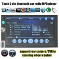 7 Дюймов Bluetooth сенсорный Экран Автомобильная Электроника Стерео MP4 MP5 Плеер 2 Din Поддержка камеры заднего вида/DVR AUX/FM/USB/TF 8 языков