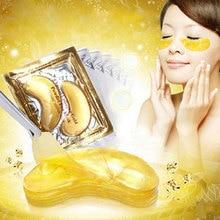 20pcs=10packs Gold Eye Mask Golden Crystal Collagen Eye Mask Anti-Dark Circle Moisturizing Anti-Aging Hyaluronic Acid Eye Patch
