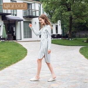 Image 3 - Qianxiu 2017 новая женская ночная рубашка в клетку, популярная дышащая 17115 для вечеринок