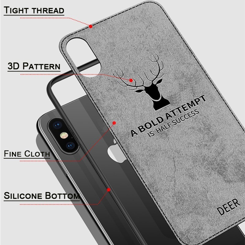 Luxury Christmas Deer Cloth Phone Cases For iphone 7 8 6 6s Plus Ultra Thin Soft Silicone Cover For iphone X Xs Max XR in Fitted Cases from Cellphones Telecommunications