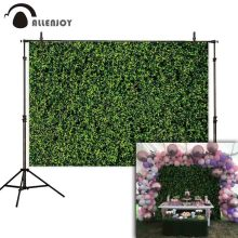 Allenjoy Thin Vinyl photocall backdrop green grass vintage nature romantic decorate photo photography background