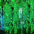 120 СВЕТОДИОДОВ 4 М * 0.6 М Искусственный Salix Листьев Лоза Свадьба Занавес Свет для Дома Сад Светильники СВЕТОДИОДНЫЕ Украшения рождественские Огни